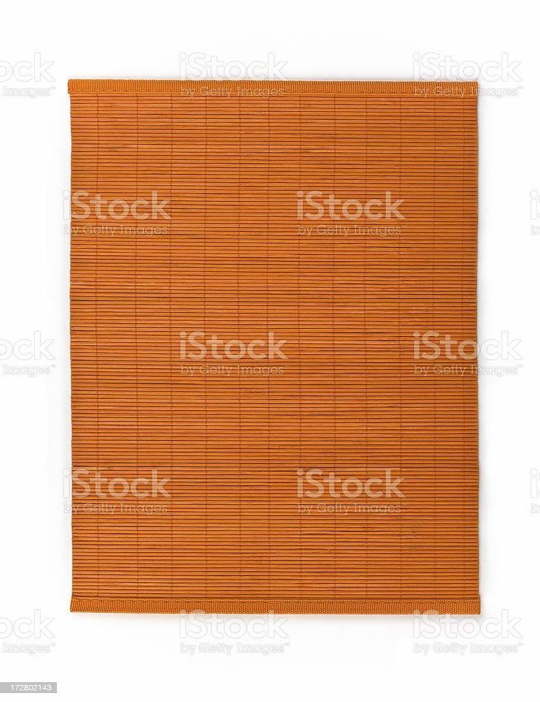 Orange bamboo mat stock photo