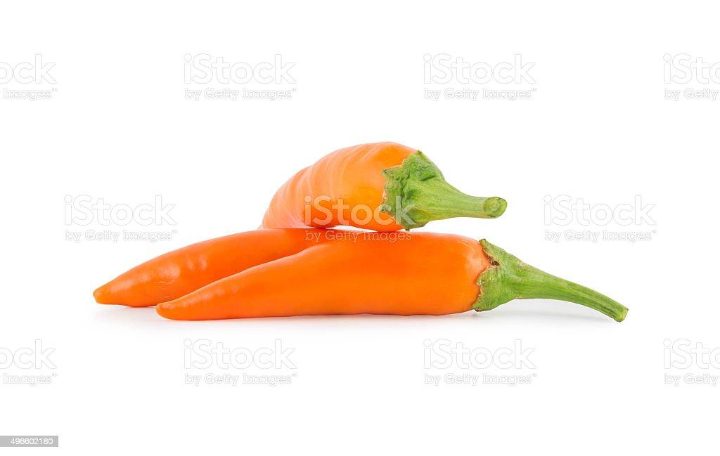 Orange Banana Pepper stock photo