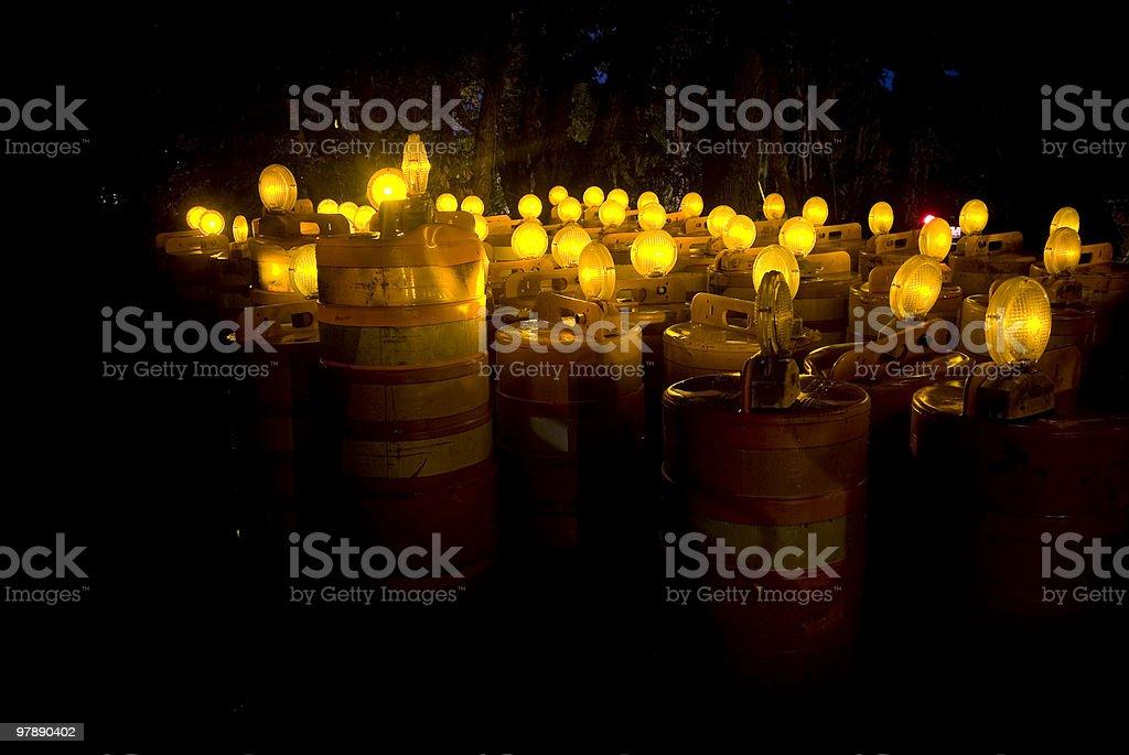 Orange Barrel Field 2 royalty-free stock photo