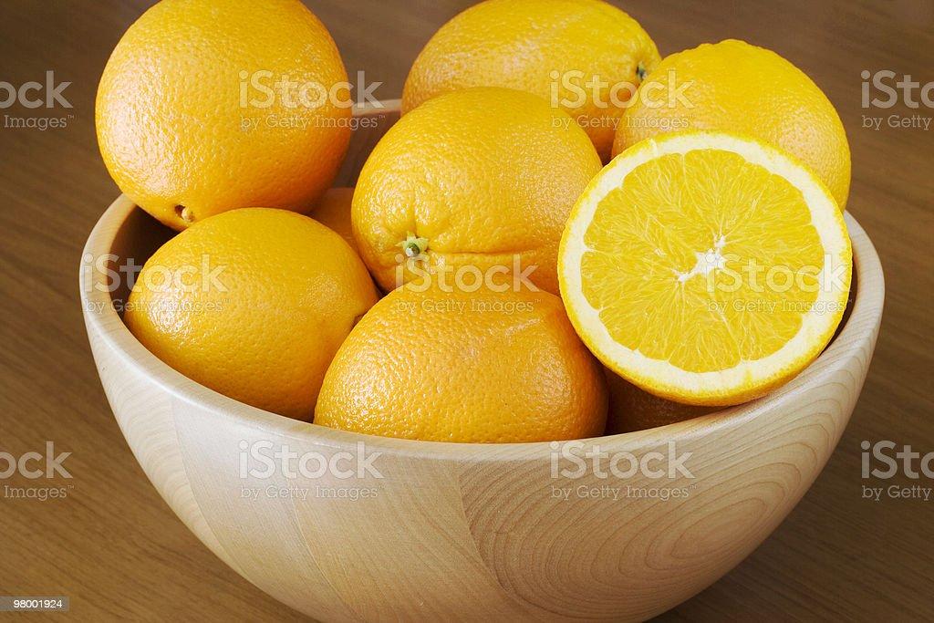 Cesta de laranja foto royalty-free
