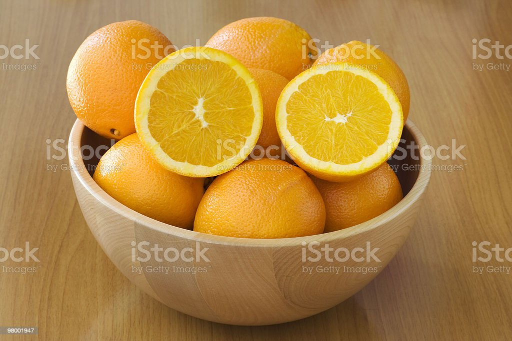Orange basket royalty-free stock photo