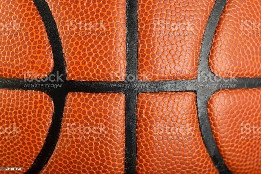 pattern of orange leather textured basketball background