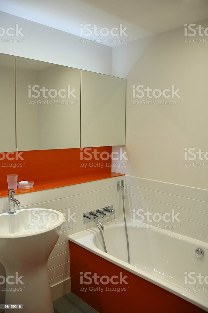 Orange Bathroom royalty-free stock photo