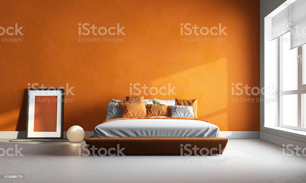 orange Schlafzimmer – Foto