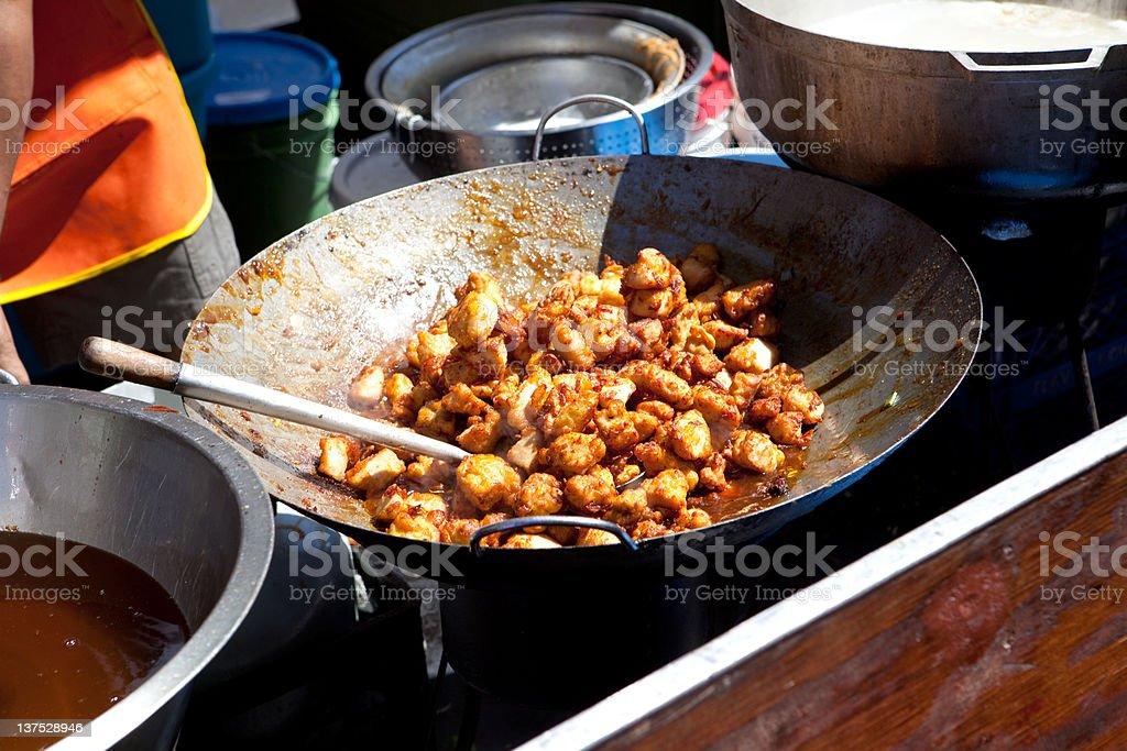 orange beef stir-fry royalty-free stock photo