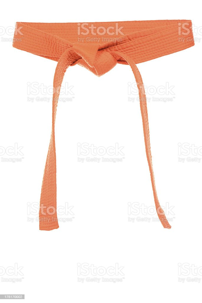 Orange Belt stock photo