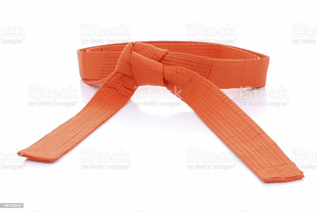Orange belt royalty-free stock photo