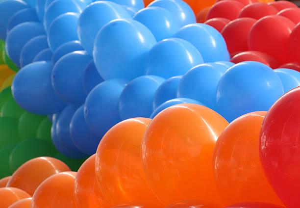 Orange, Blau und Rot Ballons – Foto