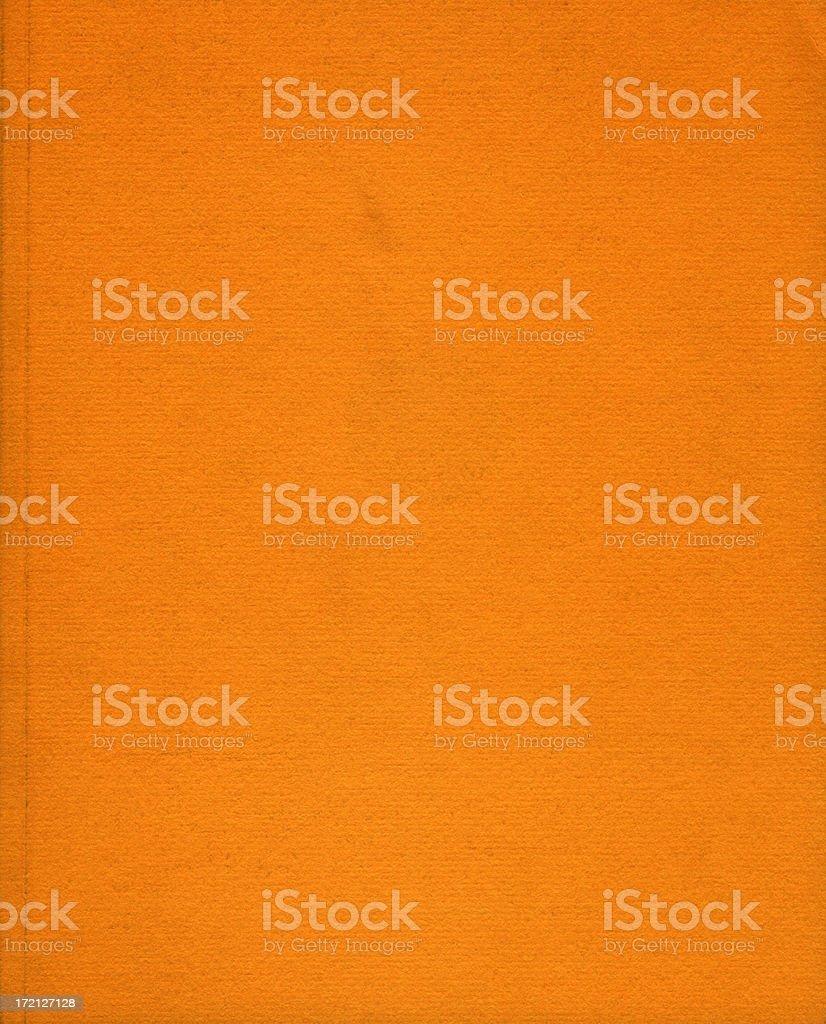 orange book cover stock photo