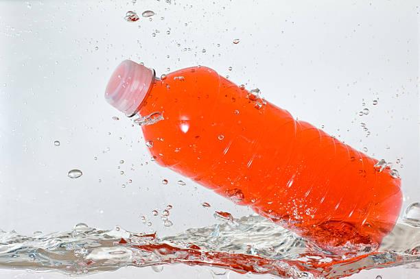 Orange Bottled Drink stock photo