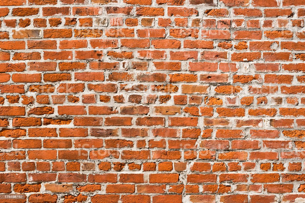 Orange Brick Wall Background - XXXL Photo royalty-free stock photo