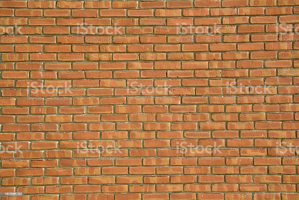 Orange Brick Wall Closeup stock photo