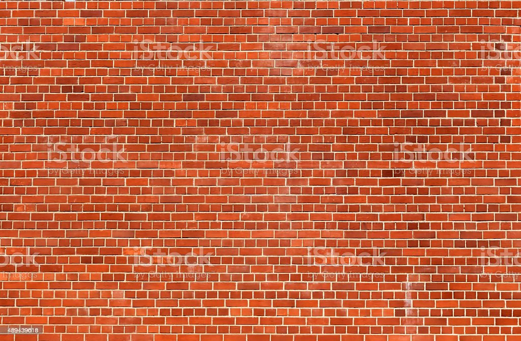 Orange brick wall texture background stock photo