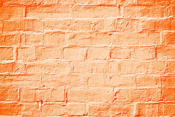 Orange Brick Wall Texture Background - Photo