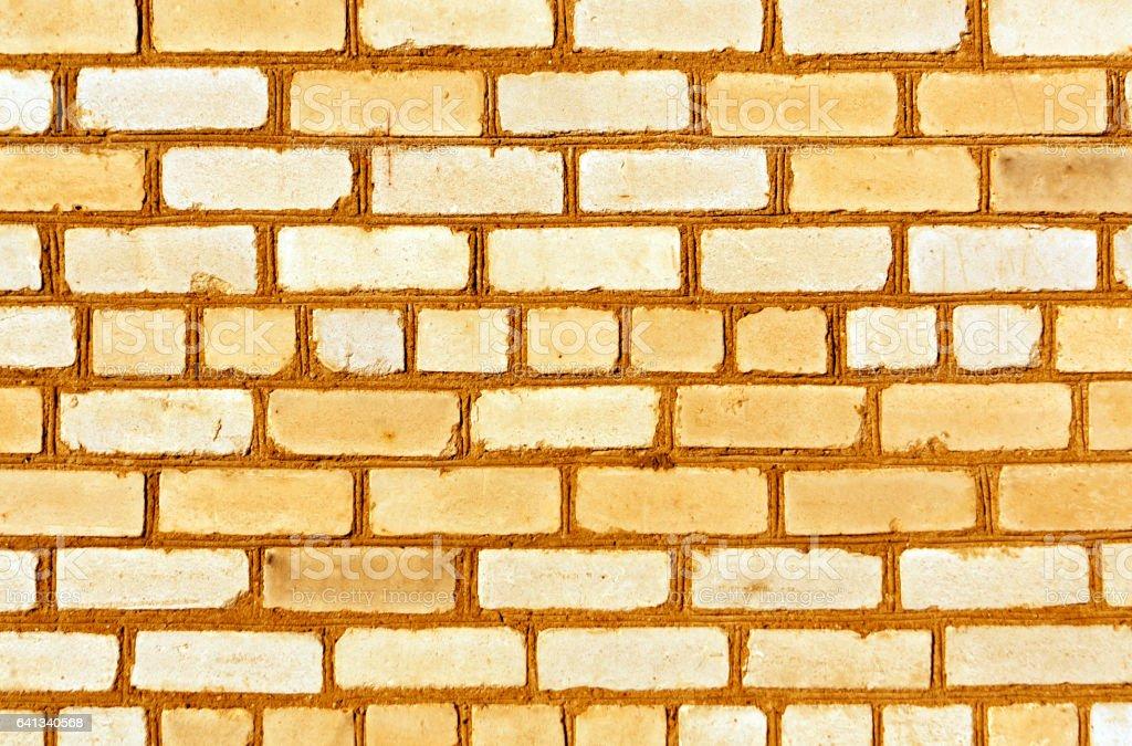 Orange brick wall trexture stock photo