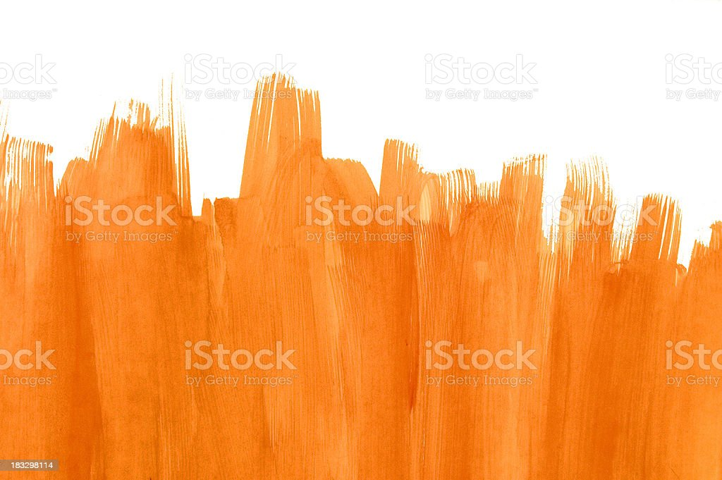 Orange brush stroke background stock photo