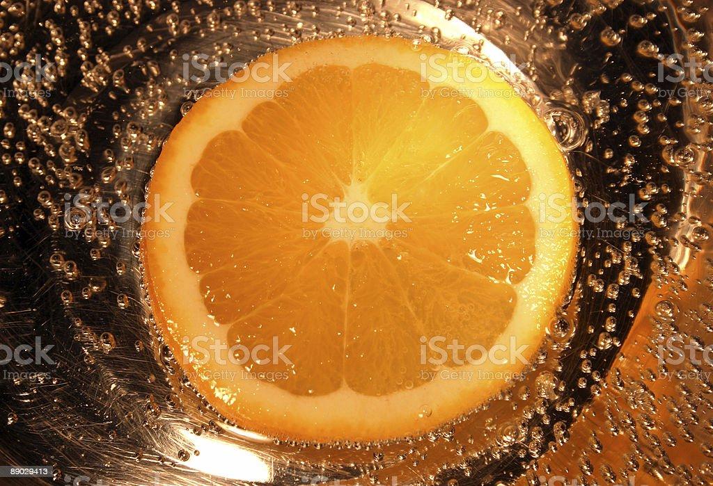 Burbujas naranja foto de stock libre de derechos