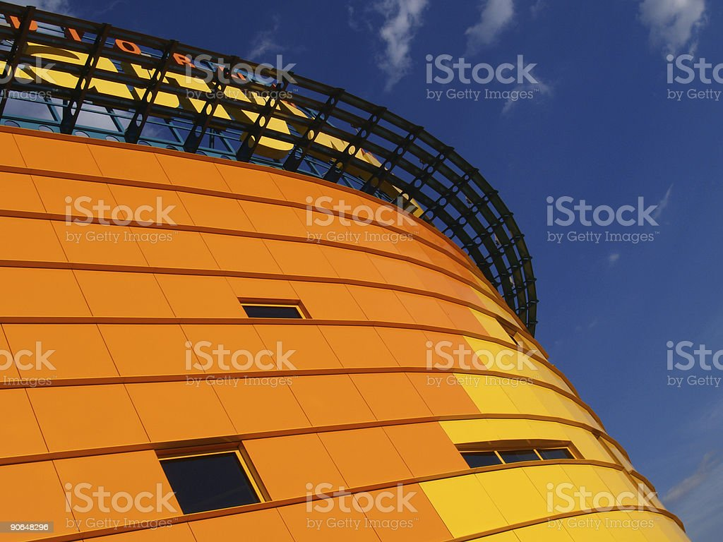 Orange building [1] royalty-free stock photo