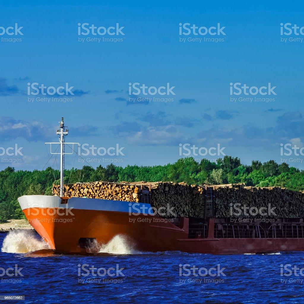 Orange bulk carrier royalty-free stock photo