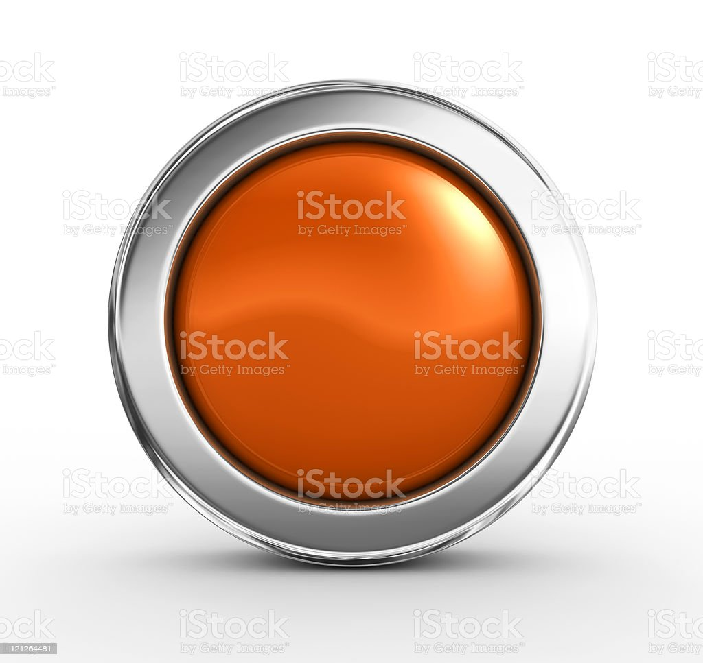 Orange button stock photo