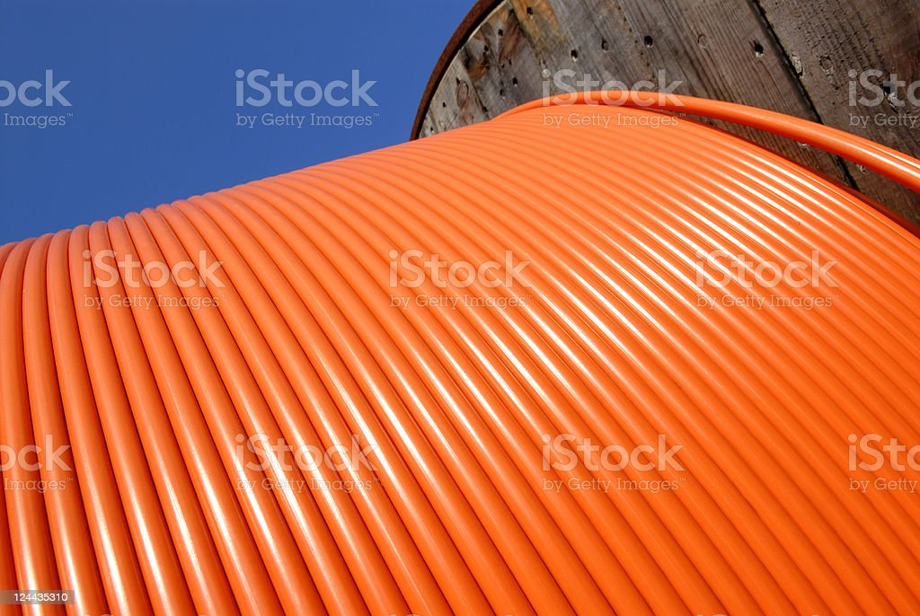 Orange cable royalty-free stock photo