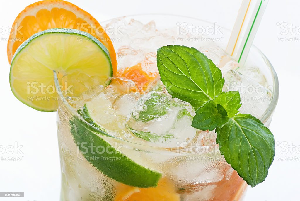 Orange Caipirinha royalty-free stock photo