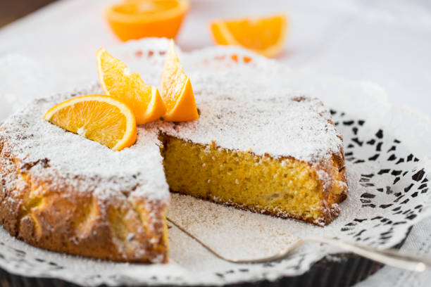 orange cake stock photo