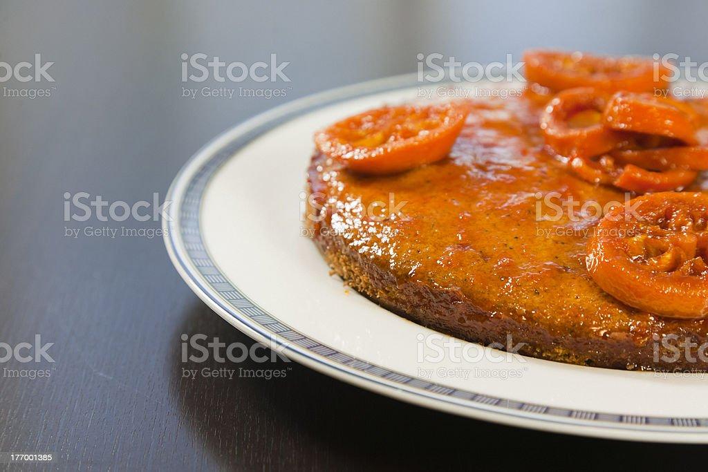 Orange cake royalty-free stock photo