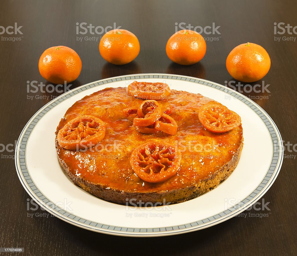 Orange cake royalty-free stock photo