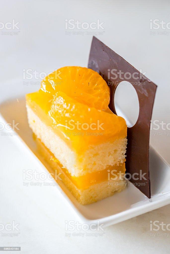 orange Kuchen  Lizenzfreies stock-foto