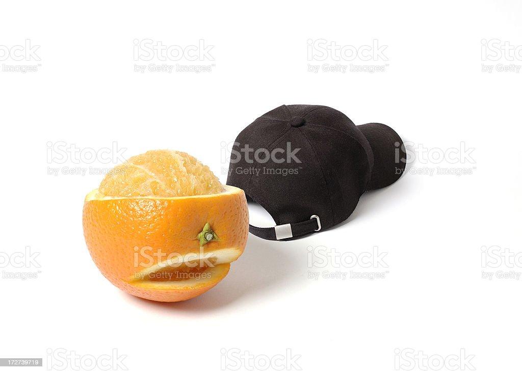 Orange & Cap stock photo