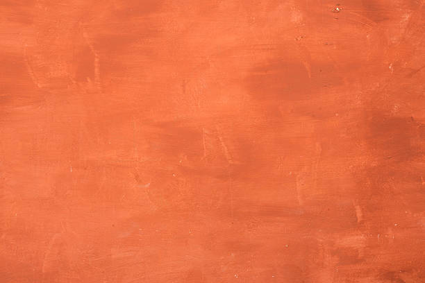 Orange cement painted wall. Abstract Background. stock photo