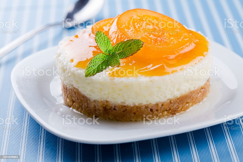 Orange Cheesecake stock photo