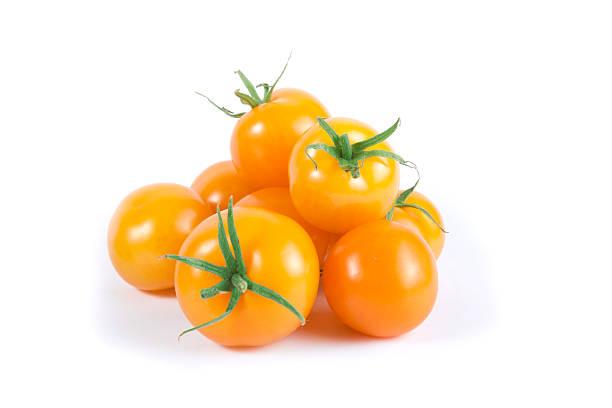 Orange Cherry Tomato Variety stock photo