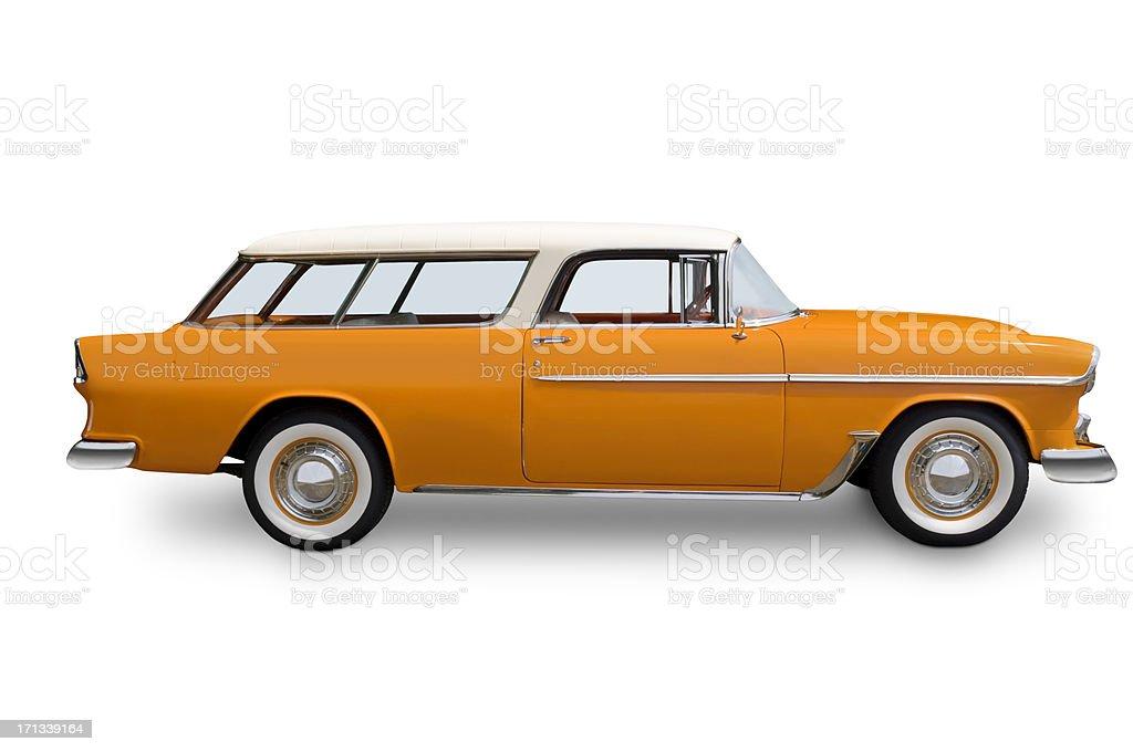Orange Chrvrolet Nomad Wagon stock photo