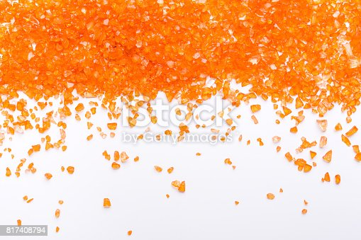 istock Orange Citrine gemstones on white background 817408794