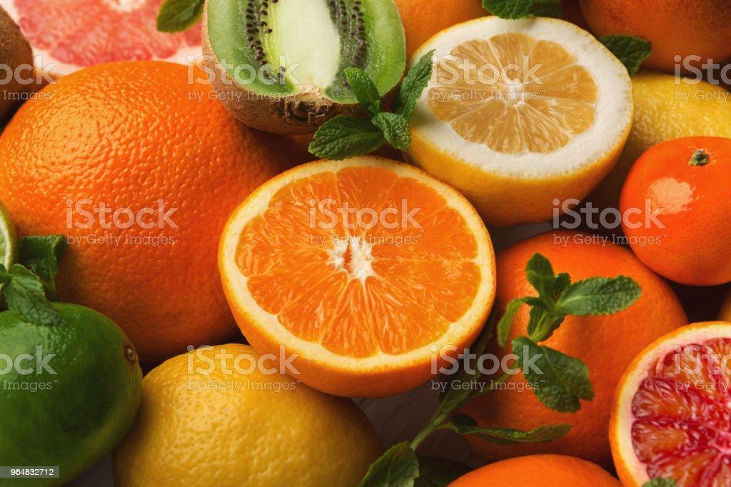 Orange citrus background, closeup royalty-free stock photo