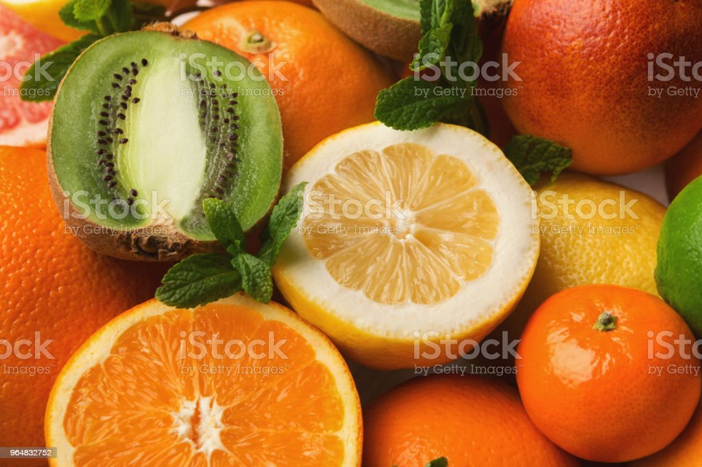 Orange citrus background, closeup royalty-free stock photo