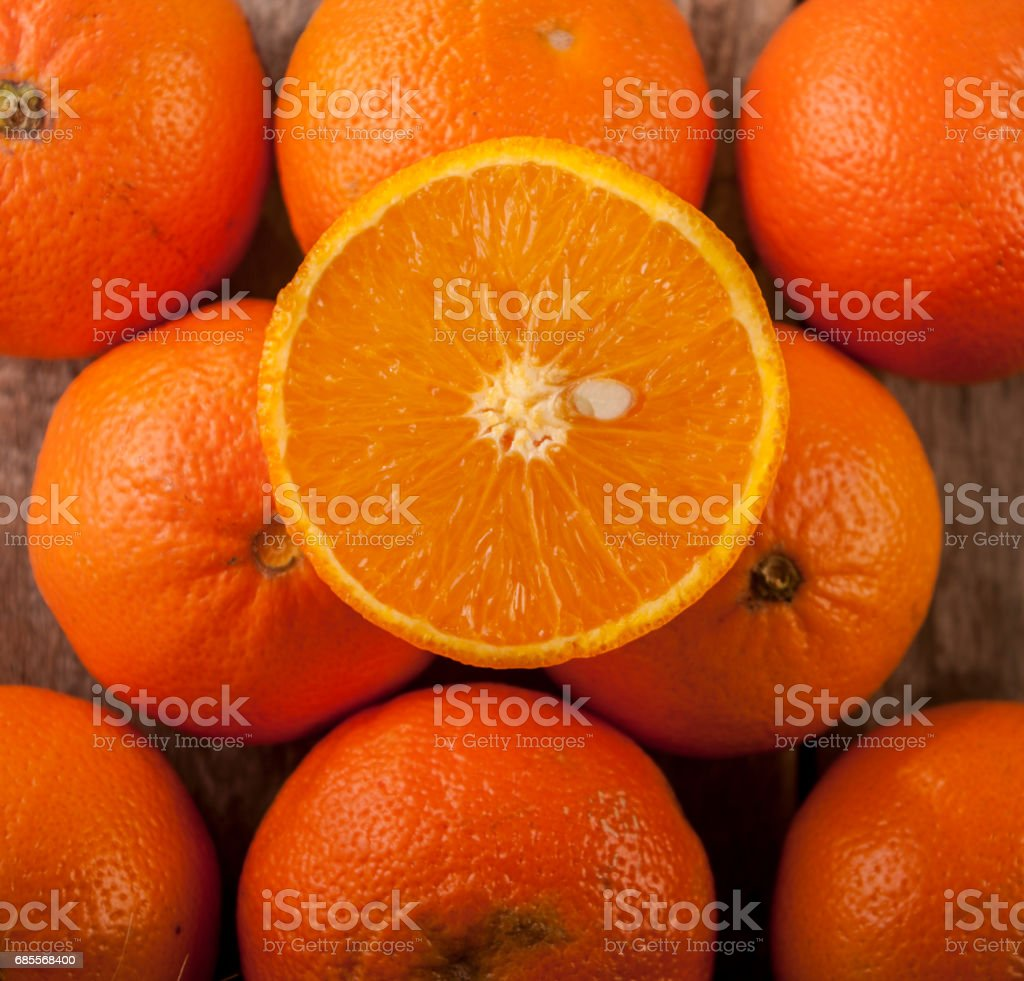 orange close up on wood royalty-free 스톡 사진