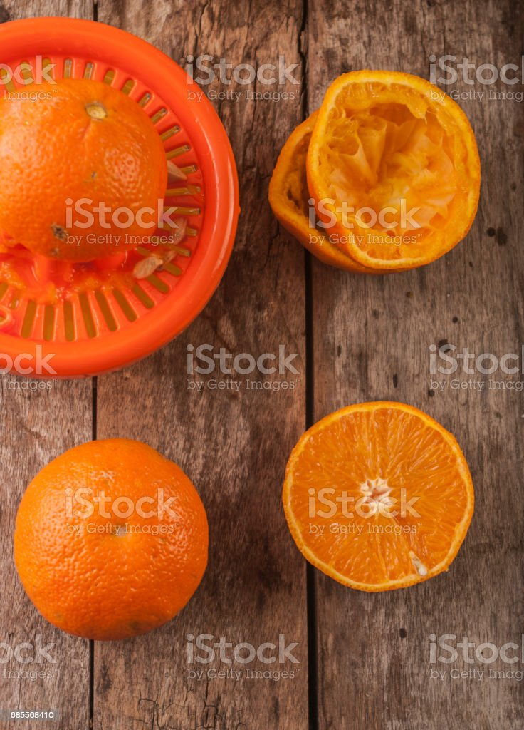 orange close up on wood foto de stock royalty-free