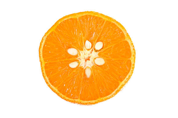 Orange gros plan isolé sur blanc - Photo