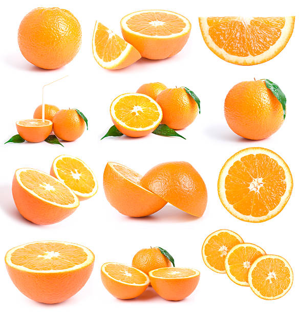 orange collection w clipping path stock photo