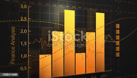 850496336 istock photo Orange color finance chart screen analysis 1039414484