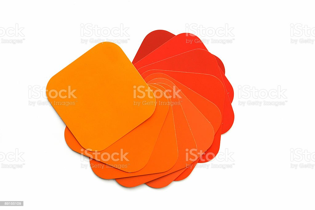 Orange Color Swatch royalty-free stock photo