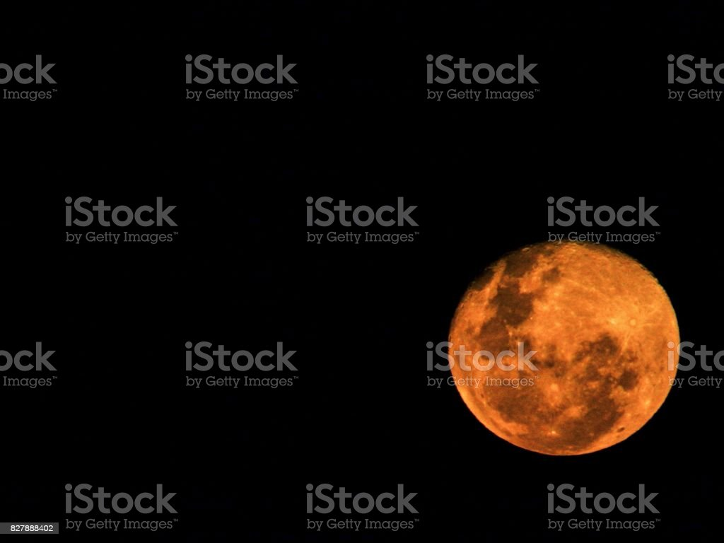 Orange farbigen Rising Moon – Foto