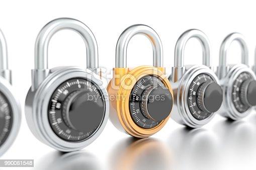 Orange combination lock with silver combination locks