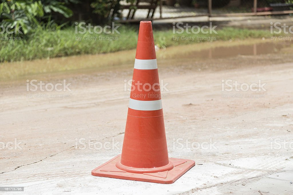 orange cones stock photo