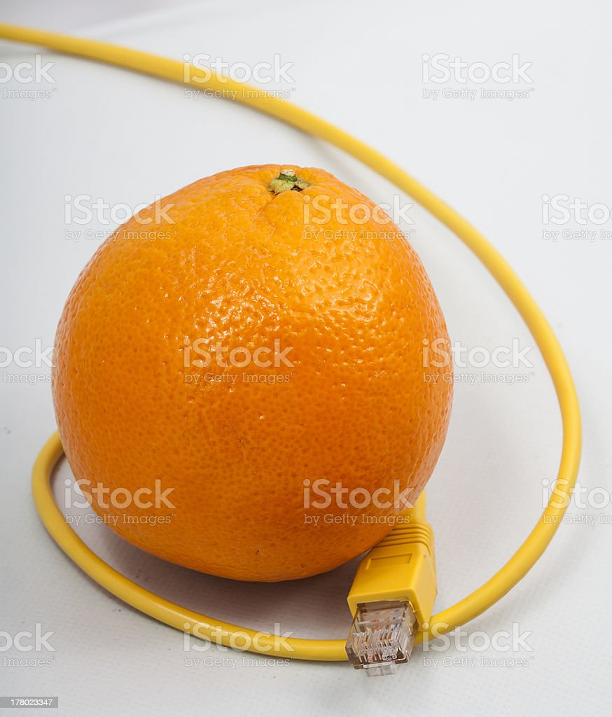 Orange connected royalty-free stock photo