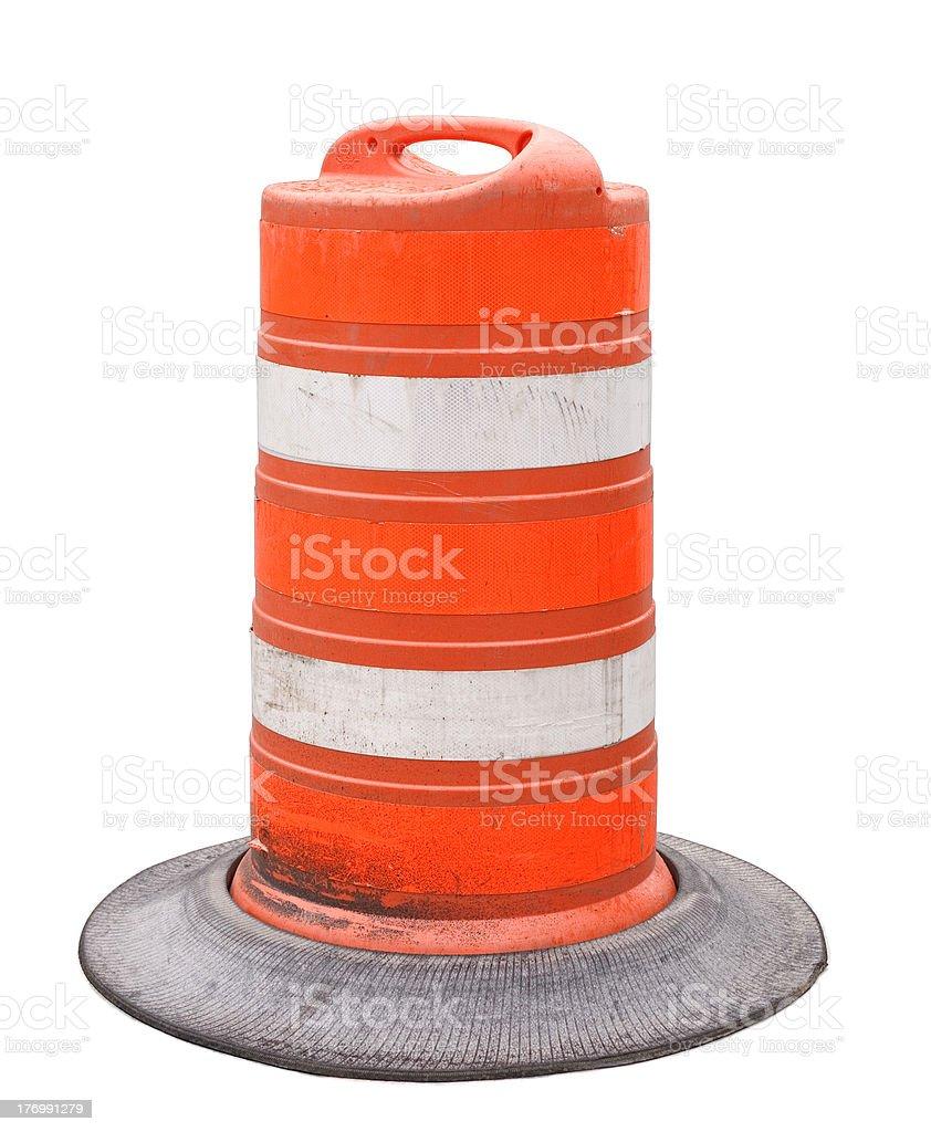 Orange Construction Barrel stock photo