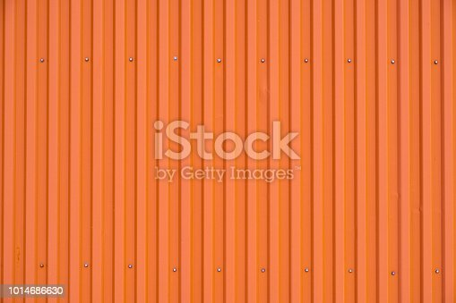 Orange cargo container row striped texture and background